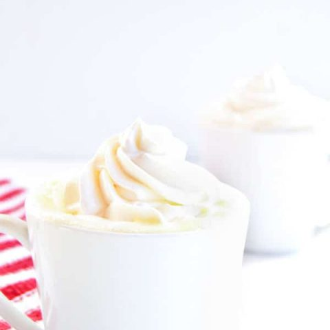 White hot chocolate is a perfect grown up drink for a winter day drink!
