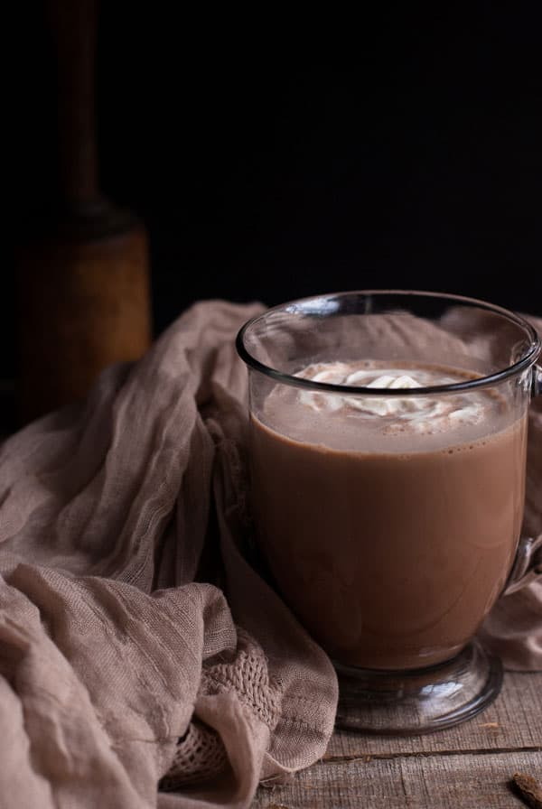 Chai hot chocolate is a spicy twist on tea and hot cocoa and perfect to keep you warm this winter!