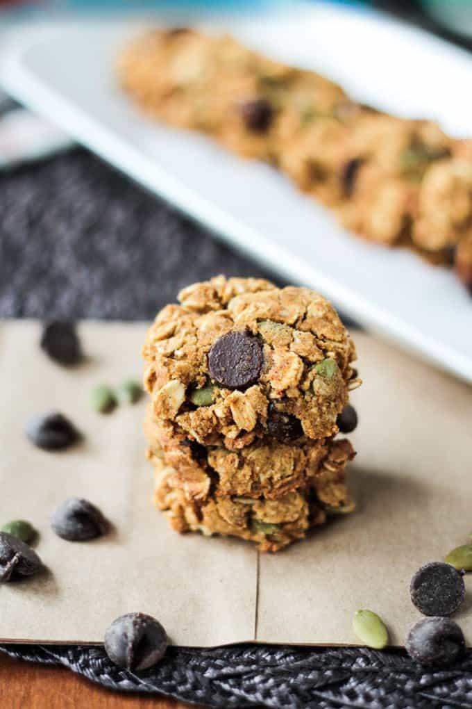 Crunchy-Gluten-Free-Pumpkin-Chocolate-Chip-Cookies-3