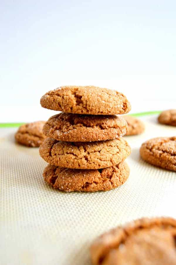 Chewy molasses cookies are my version of a family favorite!