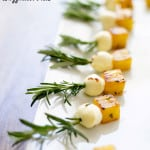Rosemary Pineapple Mozzarella Bites {Guest Post}