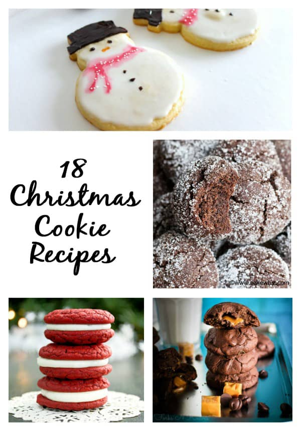 18 Christmas cookie recipes perfect for your next holiday cookie exchange, gift giving, or just to share with friends and family!