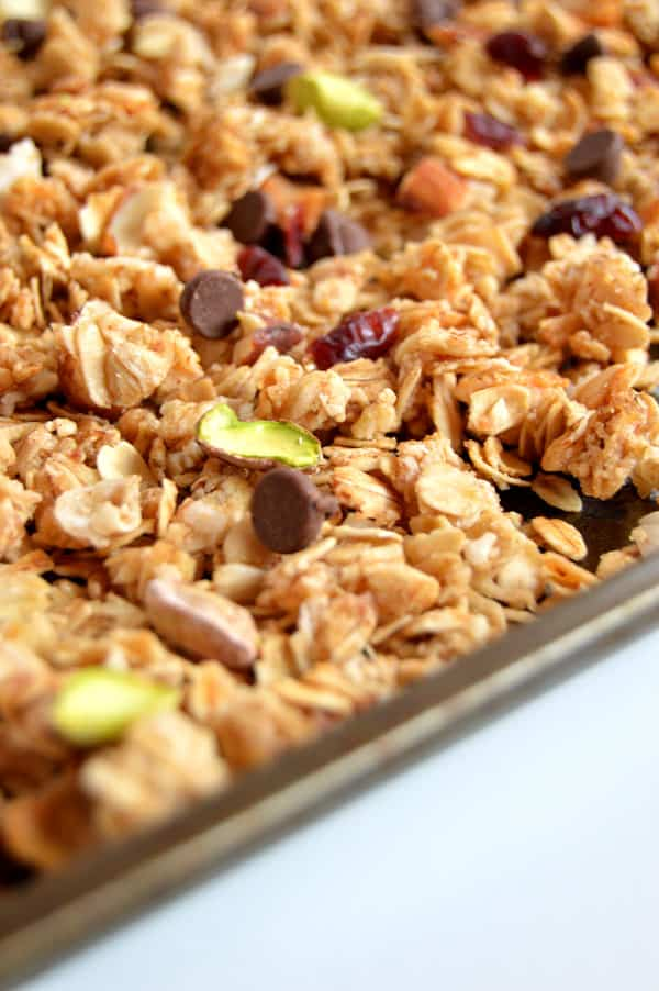Dark Chocolate Pistachio Granola | Cook. Craft. Love.
