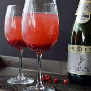 Pomegranate Champagne Spritzer