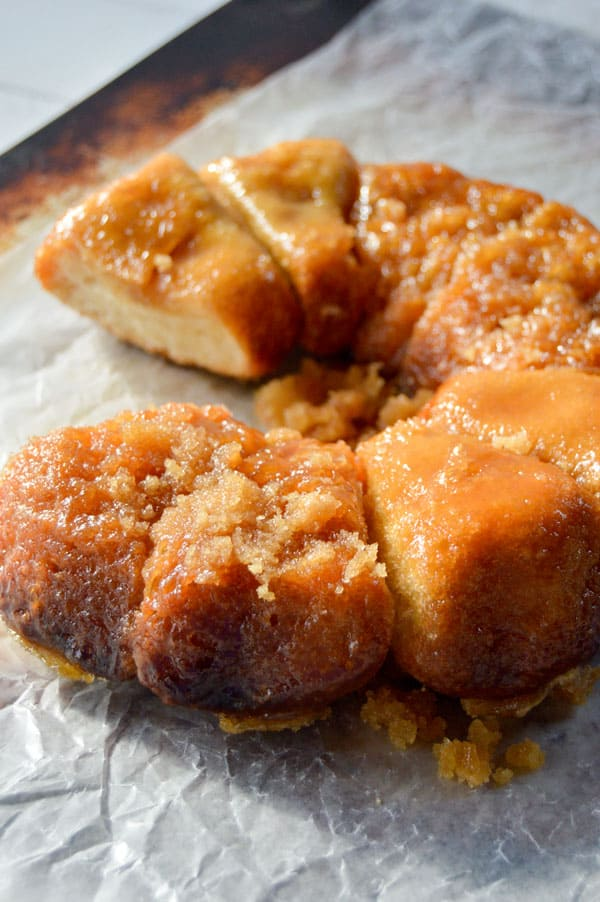 These sticky buns have just 3 ingredients and can be prepped the night before for a breakfast treat that's ready to bake as soon as you wake up!