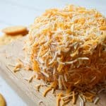 This creamy, cheesy, and spicy taco cheese ball is perfect for your next sports party!