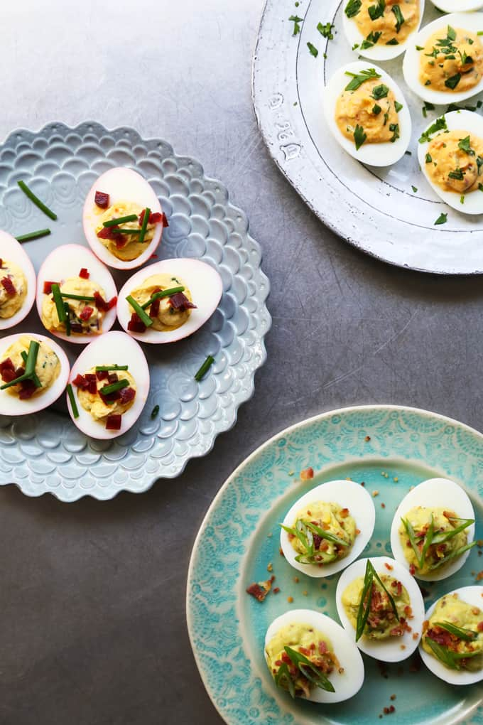 Deviled-Eggs-3-Ways