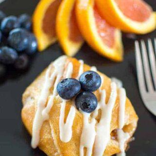 Peach Croissants with Orange Liqueur Icing