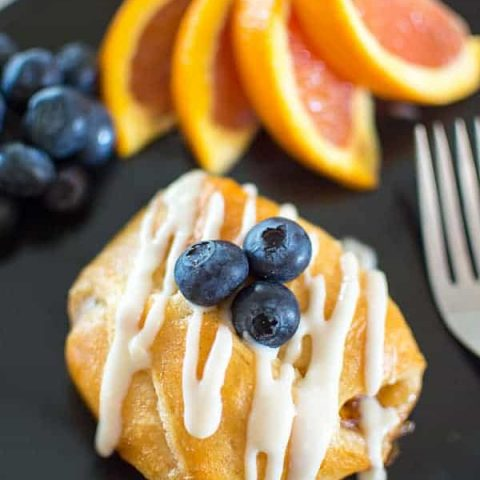 Orange liquer shines in this decadent but simple semi-homemade breakfast recipe!