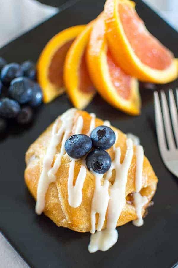 Orange liquer shines in this decadent but simple semi-homemade breakfast recipe!