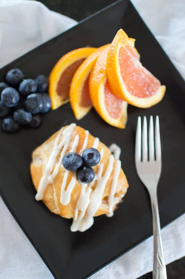 Orange liqueur and peaches shine in this decadent but simple semi-homemade brunch recipe.