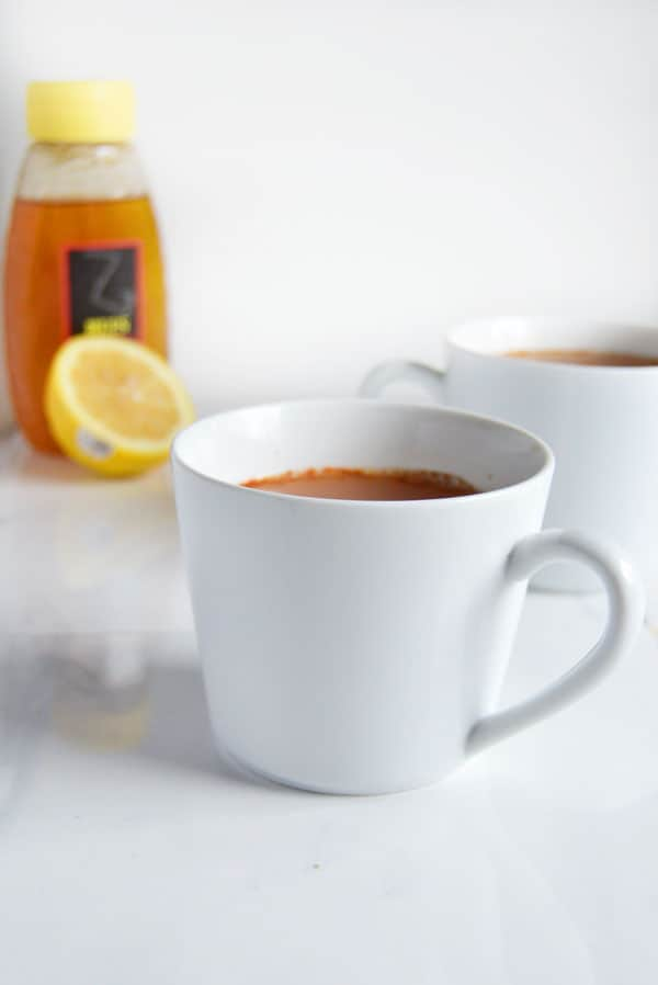 If you've got a sore throat then whip up a cup of this sore throat tea and you'll be back on your feet in a flash!