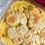 Chicken and dumpling casserole is an easy weeknight one dish twist on a southern classic!