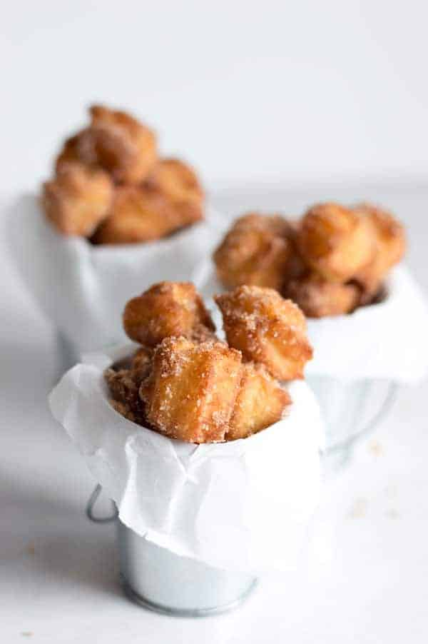 Churros are a Mexican favorite. What's better than fried dough rolled in cinnamon sugar?
