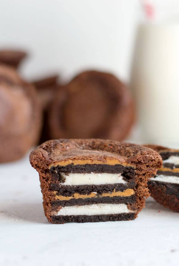 Oreo peanut butter brownies are a sweet and salty bite that will satisfy any chocolate lover's cravings!