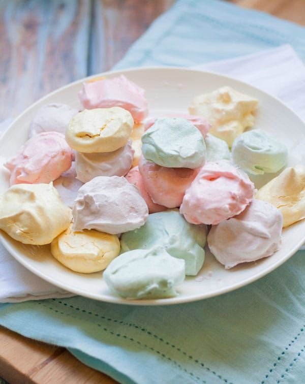 These beautiful and easy Easter Meringue Cookies are the perfect little dessert treats for Spring.