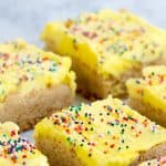 Gluten Free Frosted Sugar Cookie Bars
