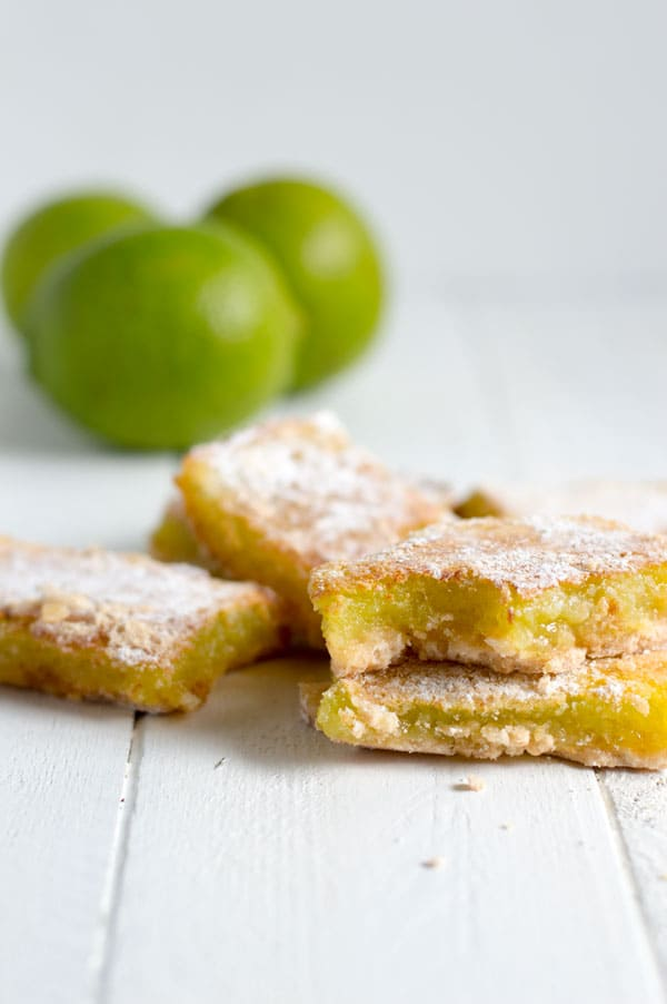 Get ready for Cinco de Mayo and summer with these margarita bars! Tangy bite of lime and tequila make these lime bars perfect for your next fiesta!