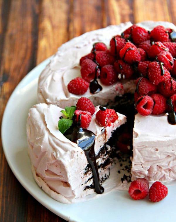 chocolate-raspberry-icebox-cake-with-hot-fudge-pinterest