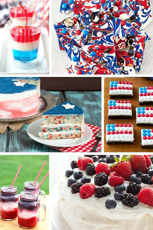 Whether you're celebrating Memorial Day, 4th of July, Flag Day, Labor Day, Veteran's Day or just because I've rounded up 20 patriotic desserts perfect for your next patriotic celebration!