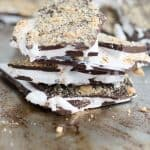 Inside out smores bark is one of the best new ways to eat smores! Enjoy it on ice cream, in milkshakes, between two graham crackers, and more!