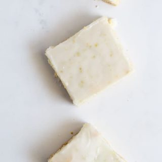 Iced Lime Shortbread Cookies