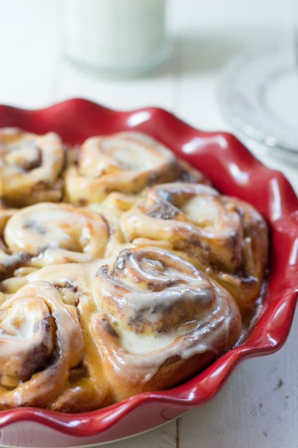 Apple pie cinnamon rolls are the perfect fall breakfast or brunch treat!