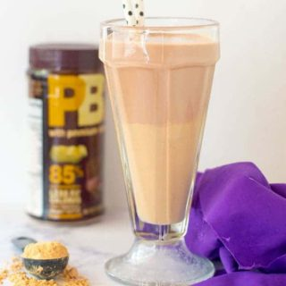 Chocolate Peanut Butter Cheesecake Protein Smoothie