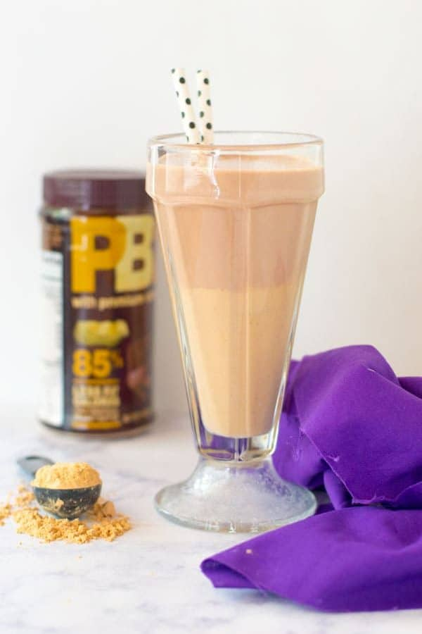 Chocolate and peanut butter come together yet again in a classic mash up in this chocolate peanut butter smoothie!