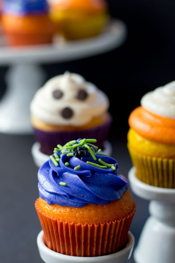 Halloween Cupcakes three ways are fun and simple Halloween treats sure to satisfy Halloween lovers of all ages!