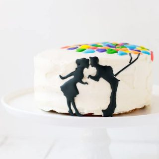 This UP themed anniversary cake is perfect for two and such a great way to celebrate your first year of marriage!