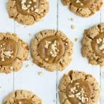 Peanut brittle shines in these peanut brittle cookies that are a great way to use up leftover brittle from the holidays!