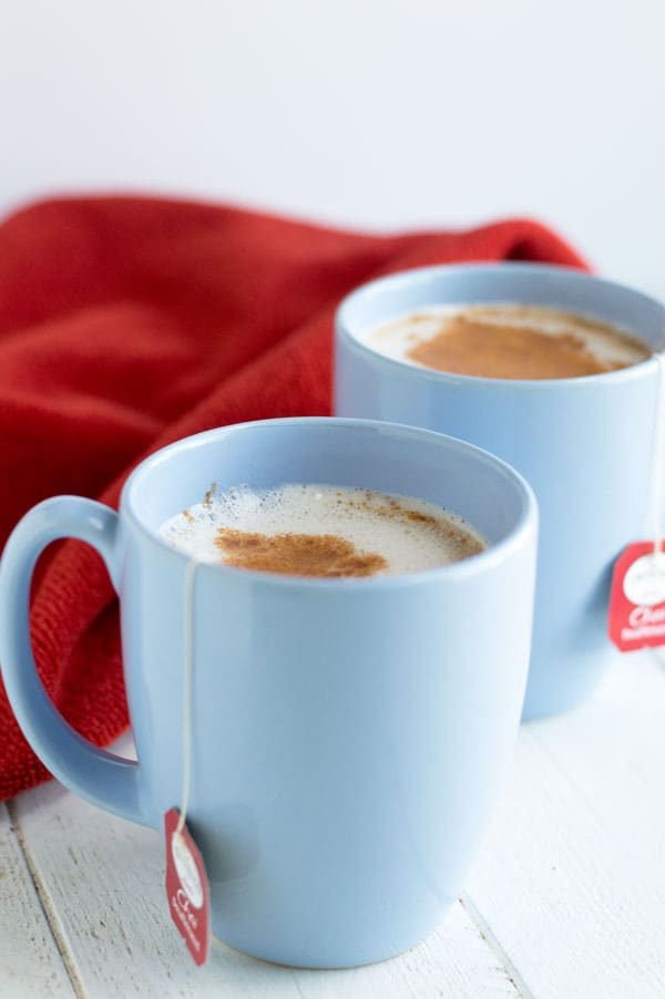 This homemade chai latte is the perfect alternative to an expensive coffee house drink!