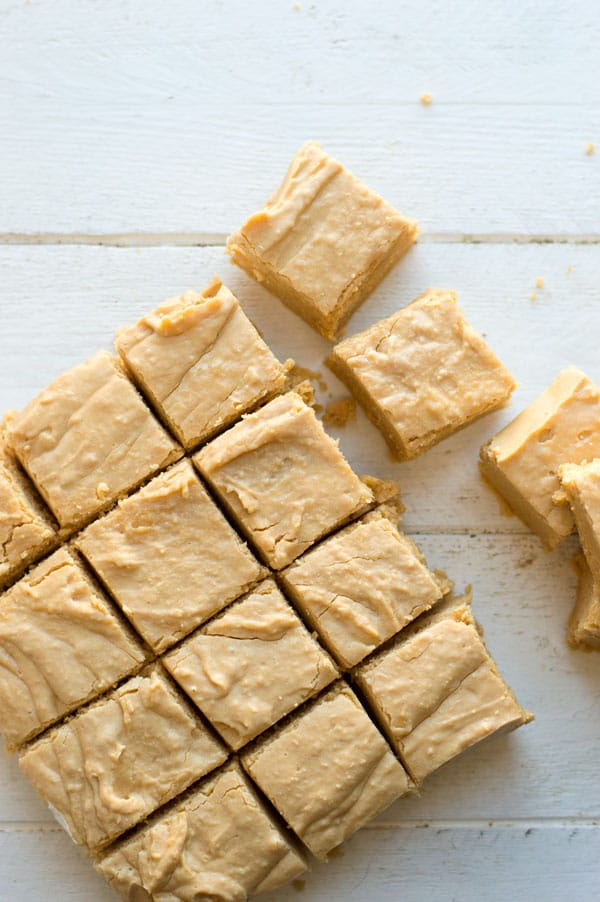 Soft peanut butter fudge is one of my favorite Christmas treats and this recipe comes together super fast with just 4 ingredients!