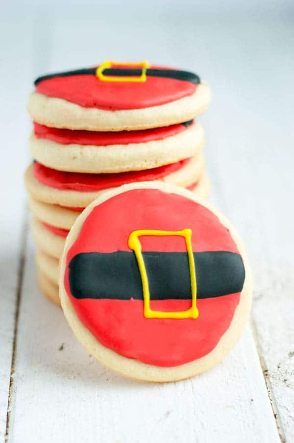 Get in the Christmas spirit with these fun and simple Santa Cookies!