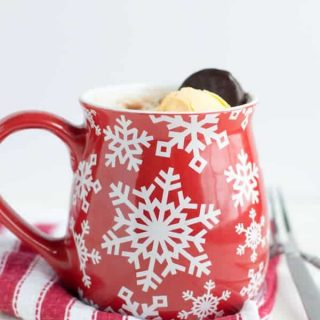 Peppermint Chocolate Mug Cake for Two
