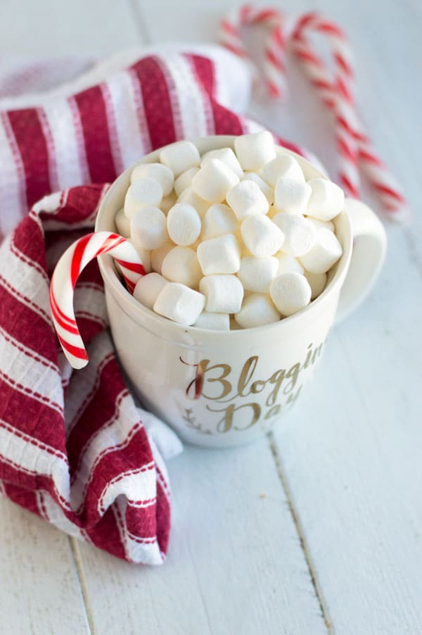 Microwave hot chocolate from scratch is the perfect way to enjoy no powder hot chocolate without having to make a huge batch!