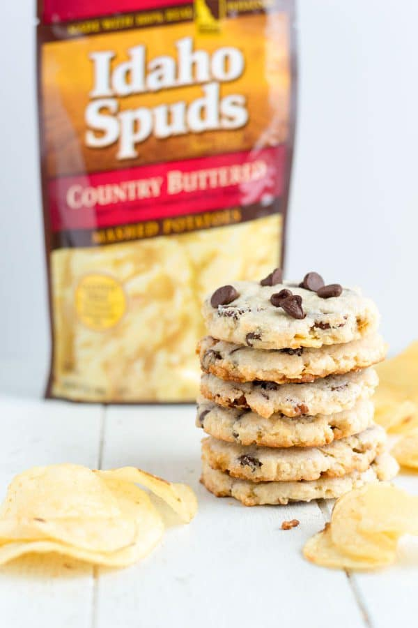 Sweet and salty is a winning combination and these potato chip cookies are perfect for your Game Day party this year!