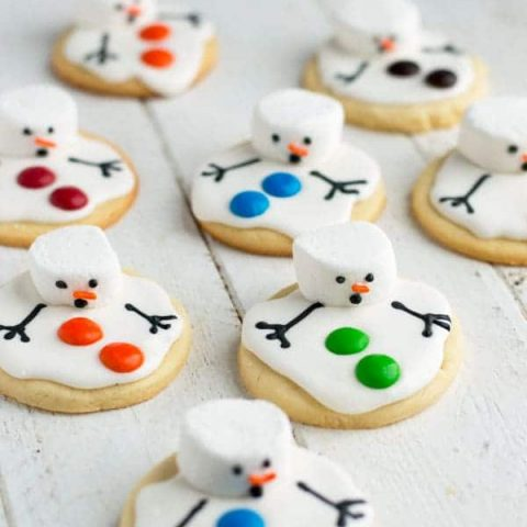 Melted Snowman Cookies