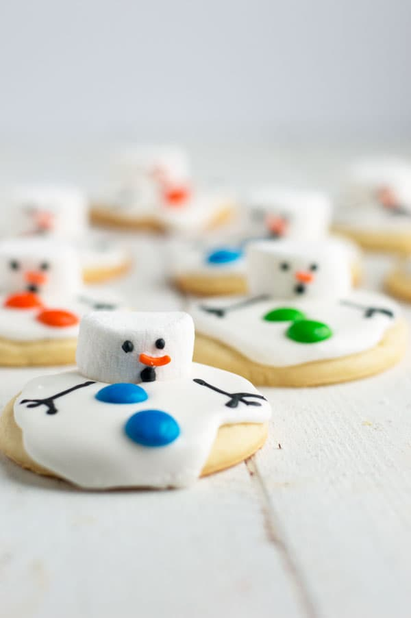 Melted Snowman Cookies Cook Craft Love