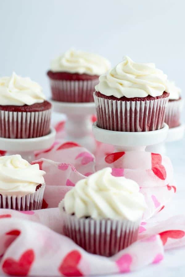 Classic red velvet cupcakes are a southern staple and the perfect treat for Valentine's Day, a sweet spring picnic, or a backyard barbque!