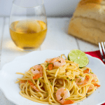 Spicy Honey Lime Shrimp Pasta for One