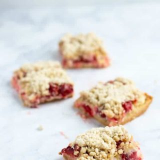 These cherry pie bars are the perfect spring and summer dessert. They're great for picnics, potlucks, school lunches and more!