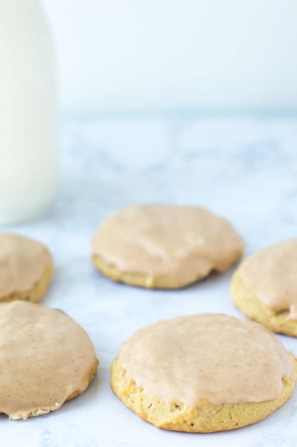 Soft maple cinnamon sugar cookies are the perfect fall cookie to share with friends and family.