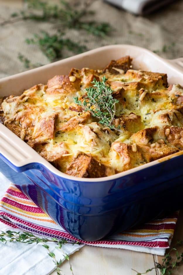 Savory Bread Pudding - Ham & Cheese