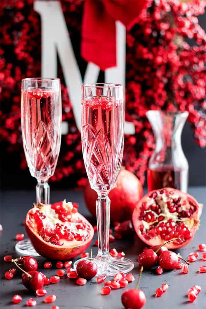 Cherry Pomegranate Champagne